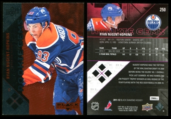 2011/12 Upper Deck Black Diamond Ruby #250 Ryan Nugent-Hopkins RC 36/100
