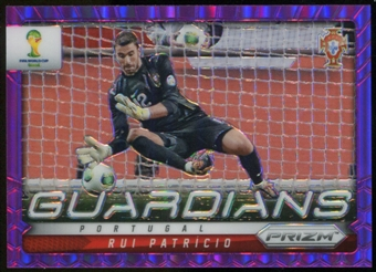2014 Panini Prizm World Cup Guardians Prizms Purple #19 Rui Patricio /99