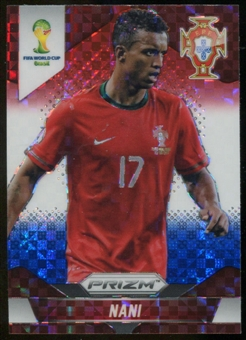 2014 Panini Prizm World Cup Prizms Red White and Blue #159 Nani