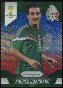 2014 Panini Prizm World Cup Prizms Blue and Red Wave #146 Andres Guardado