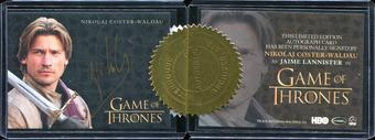 2014 Rittenhouse Game of Thrones Season Three Case Incentive Autographs #2 Nikolaj Coster-Waldau Jaime Lannist