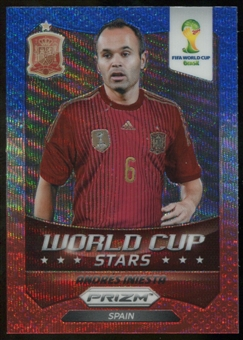 2014 Panini Prizm World Cup World Cup Stars Prizms Blue and Red Wave #30 Andres Iniesta