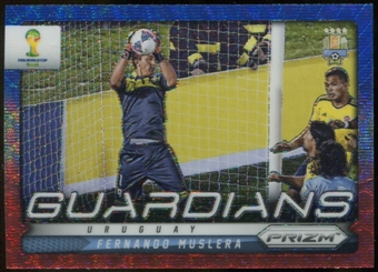 2014 Panini Prizm World Cup Guardians Prizms Blue and Red Wave #23 Fernando Muslera