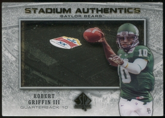 2012 Upper Deck SP Authentic Stadium Authentics Bowl Logo #SABRG Robert Griffin III