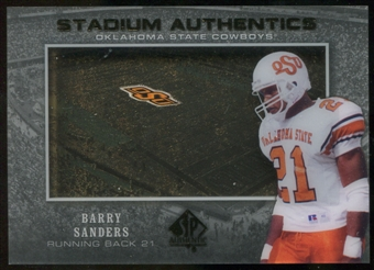 2012 Upper Deck SP Authentic Stadium Authentics #SABS Barry Sanders
