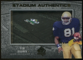 2012 Upper Deck SP Authentic Stadium Authentics #SATB Tim Brown
