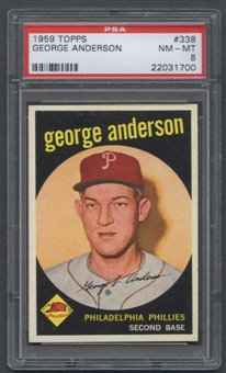1959 Topps Baseball #338 Sparky Anderson Rookie PSA 8 (NM-MT) *1700