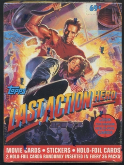 Last Action Hero Hobby Box (1993 Topps)
