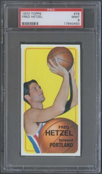1970/71 Topps Basketball #79 Fred Hetzel PSA 9 (MINT) *0450