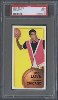 1970/71 Topps Basketball #84 Bob Love PSA 9 (MINT) *1746