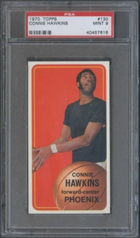 1970/71 Topps Basketball #130 Connie Hawkins PSA 9 (MINT) *7616