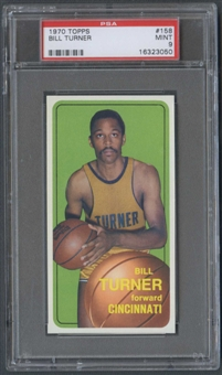 1970/71 Topps Basketball #158 Bill Turner PSA 9 (MINT) *3050