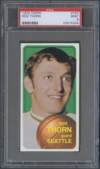 1970/71 Topps Basketball #167 Rod Thorn Rookie PSA 9 (MINT) *5304