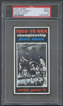 1970/71 Topps Basketball #171 Playoff Game 4 Jerry West PSA 9 (MINT) *2287