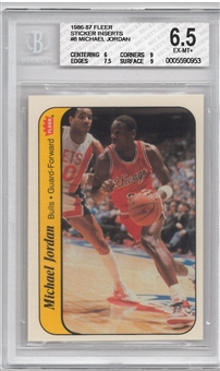 1986/87 Fleer Basketball #8 Michael Jordan BGS 6.5 (EX-MT+) *0953