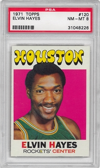 1971/72 Topps Basketball #120 Elvin Hayes PSA 8 (NM-MT) *8226