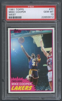 1981/82 Topps Basketball #W77 Michael Cooper PSA 10 (GEM MT) *5812