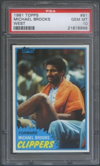 1981/82 Topps Basketball #W91 Michael Brooks Rookie PSA 10 (GEM MT) *8866