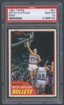1981/82 Topps Basketball #E97 Mitch Kupchak PSA 10 (GEM MT) *8192