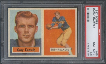 1957 Topps Football #45 Gary Knafelc PSA 8.5 (NM-MT+) *1915