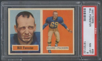 1957 Topps Football #69 Bill Forester PSA 8 (NM-MT) *0122