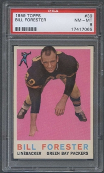 1959 Topps Football #39 Bill Forester PSA 8 (NM-MT) *7065