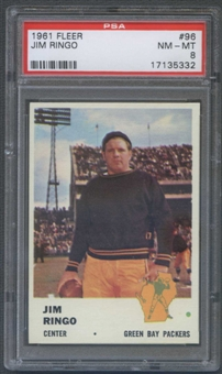 1961 Fleer Football #96 Jim Ringo PSA 8 (NM-MT) *5332