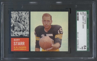 1962 Topps Football #63 Bart Starr SGC 84 (NM) *2021