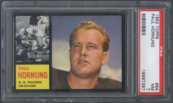 1962 Topps Football #64 Paul Hornung PSA 7 (NM) *7287