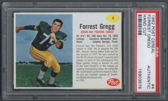 1962 Post Cereal #4 Forrest Gregg PSA (Hand Cut) (Authentic) *3578
