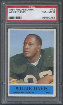 1964 Philadelphia Football #72 Willie Davis Rookie PSA 8 (NM-MT) *0352