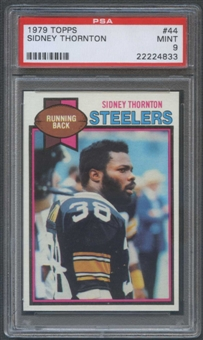 1979 Topps Football #44 Sidney Thornton Rookie PSA 9 (MINT) *4833