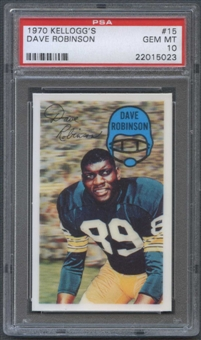 1970 Kellogg's Football #15 Dave Robinson PSA 10 (GEM MT) *5023