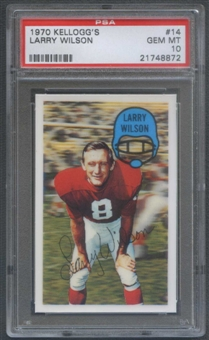 1970 Kellogg's Football #14 Larry Wilson PSA 10 (GEM MT) *8872