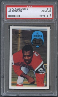 1970 Kellogg's Football #18 Al Denson PSA 10 (GEM MT) *1716
