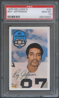 1970 Kellogg's Football #24 Roy Jefferson PSA 10 (GEM MT) *5027