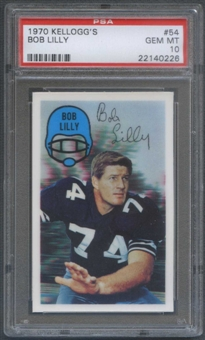 1970 Kellogg's Football #54 Bob Lilly PSA 10 (GEM MT) *0226
