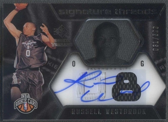 2008/09 SP Rookie Threads #67 Russell Westbrook Rookie Jersey Auto #031/599