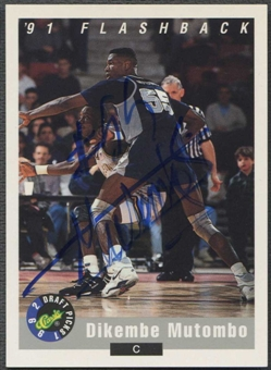 1992 Classic Draft Picks Basketball Dikembe Mutombo Auto
