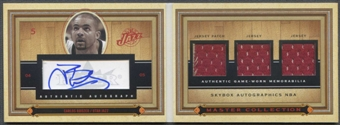 2004/05 SkyBox Autographics #CB2 Carlos Boozer Master Collection Patch Jersey Auto #25/25