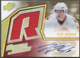 2005/06 SPx #164 Dion Phaneuf Spectrum Rookie Jersey Auto #07/25