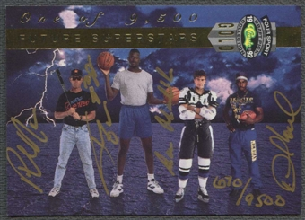 1992 Classic Four Sport Gold Phil Nevin Shaquille O'Neal Desmond Howard Roman Hamrlik Auto #0670/9500