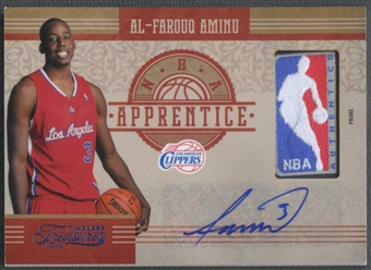 2010/11 Timeless Treasures #8 Al-Farouq Aminu NBA Apprentice Laundry Tags NBA Logoman Rookie Auto #5/5