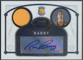 2006/07 Bowman Sterling #32 Rick Barry Jersey Auto