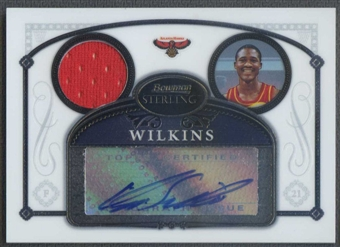 2006/07 Bowman Sterling #34 Dominique Wilkins Jersey Auto