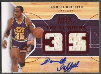 2008/09 Hot Prospects #NGGR Darrell Griffith Numbers Game Red Jersey Auto #4/5