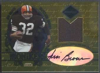 2003 Leaf Limited #M3 Jim Brown Material Monikers Jersey Auto #17/25