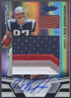 2010 Absolute Memorabilia #227 Rob Gronkowski Rookie Premiere Materials Oversize Spectrum Patch Auto #04/10