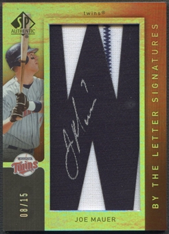 2007 SP Authentic #40 Joe Mauer By The Letter Patch Auto #08/15
