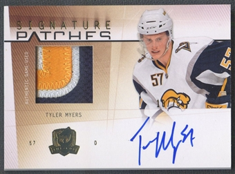 2009/10 The Cup #SPTM Tyler Myers Rookie Signature Patch Auto #18/75
